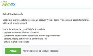 attivazione webex