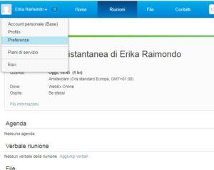 avviare registrazione webex